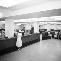 first national bank interior 1949