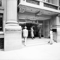first natl bank entrance 1949