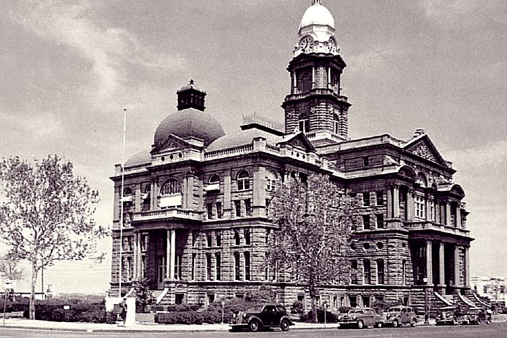 courthouse west 1940s
