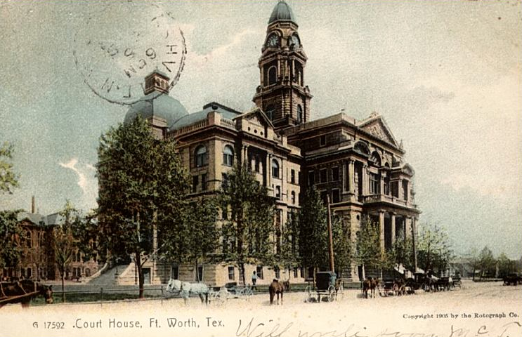 courthouse with jail postcard 1906