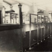 first natl bank teller cages 1920s 99